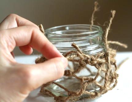 空き瓶 麻紐の結び方