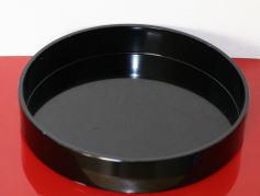 管理人の花器:黒プラスチック丸水盤(草月流花器)