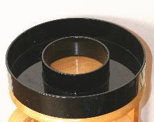 管理人の花器:黒ドーナツ(草月流花器)