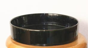 管理人の花器:丸水盤(黒)