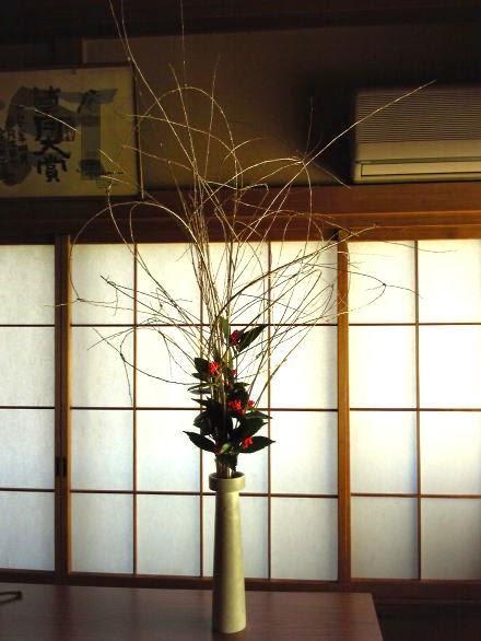 金柳 正月生け花