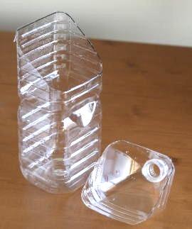大型水盤から水を抜くためのペットボトル製便利グッズ